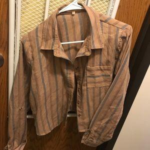 Button up Crop Shirt
